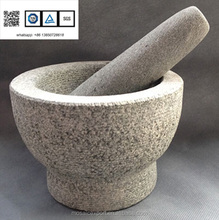 Jamie Oliver stone mortar and pestle natural stone grinder Molcajete grey kitchen tools accessories rough surface 6inch