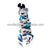 Promotion Cardboard carton dvd/cd floor display stand