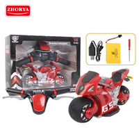 Zhorya 2.4G remote control racing motorcycle toy180 degree drift with 4D effect