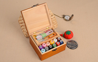china supplier wholesale natural wooden accordion sewing box