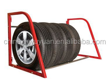 how to build a tire rack mounted to a wall