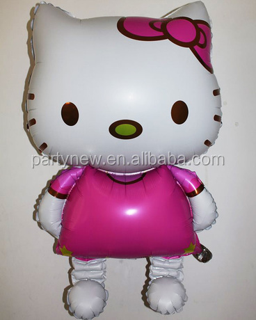 Large size 116cm inflatable hello kitty balloon for party and wedding decoration promotion kids toy foil helium balloon