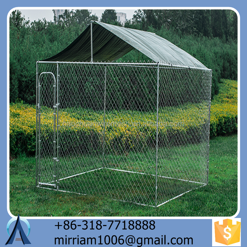 Popular and Practical Heavy duty iron or steel dog kennels, dog cages large dog runs