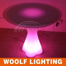 plastic illuminated led garden mushroom table