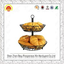 Hot sale wholesale metal wire fruit basket with banana holder
