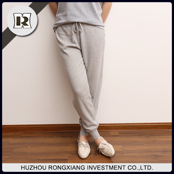 Ladies Casual Knitted wool Cashmere Pants for sale