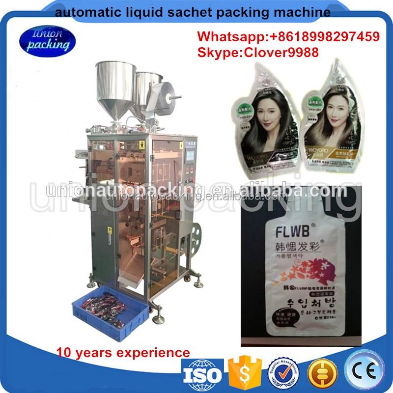 Automatic irregular shaped small tea pouch/juice pouch sachet packing machine