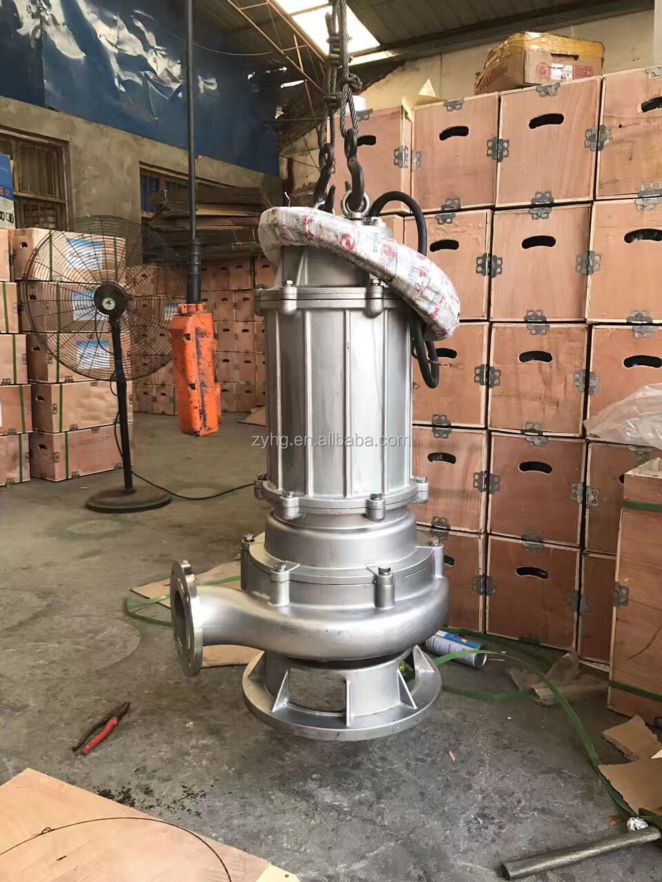 high flow stainless steel submersible sewage pump