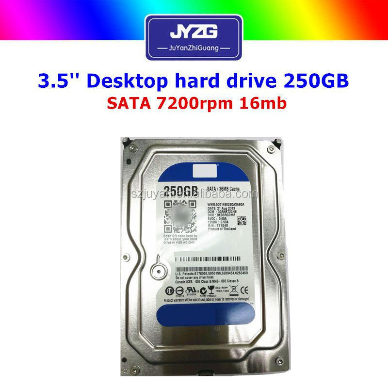 "Original brand hdd 3.5""SATA 250GB cheap used hard drives"