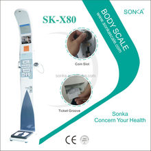 Weight Scale SK-X80 Measure Weight Height BMI Fat Blood Pressure And Temperature Automatic Weighing Machine