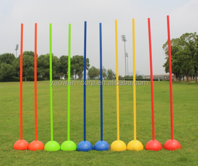 agility speed soccer football training pole stick with base