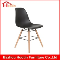 Modern BLack Cheap Price Dining Room Chair Plastic Seat Hot Sale Simple Design PP Beauty Parlour Chair