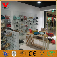 Shopping mall lady shoes store display design/wall shoes display rack