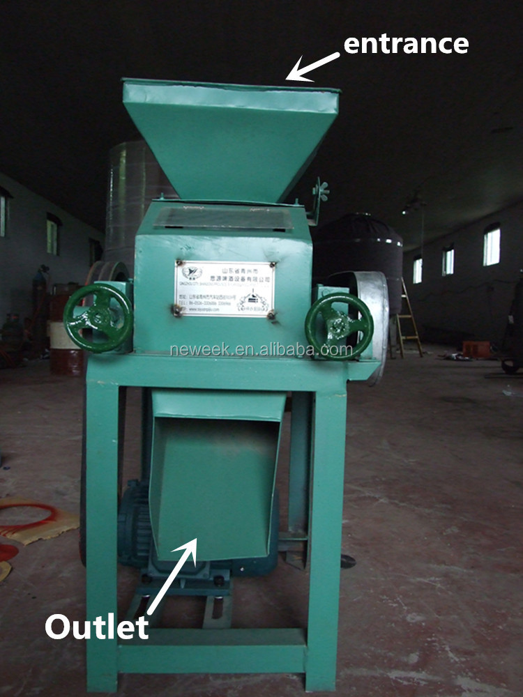 NEWEEK home use small electric grain barley malt roller mill machine for sale