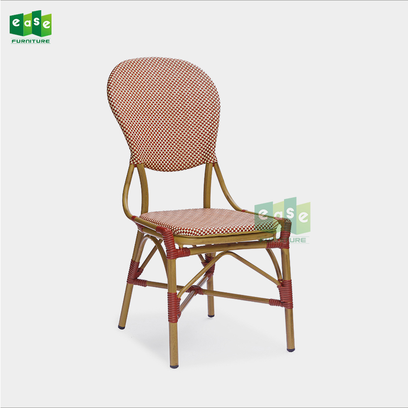 Restaurant Furniture Outdoor Red Teslin Mesh French Bistro Chairs (E7039)