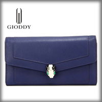 Alibaba China Custom ladies party evening Blue Wholesale Leather Clutch Bag