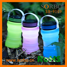 Factory USB Solar Lantern LED Water Bottle Lights With Collapsible Storage Bottle