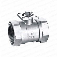 High Platform Readuce Port Silica Sol Casting Thread End 1PC Ball Valve