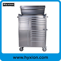 Stainless Steel Tool Box / metal tool trolly cabinet with wheels