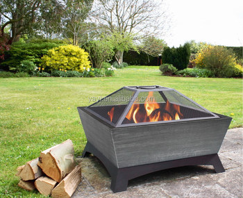 26inch square steel fire pit