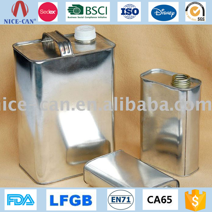Gasonline Olive Oil Tin Container Customize Metal Oil Can Container Factory Price Rectangular Petrol Gas Cans Wholesale