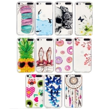 For iPod Touch 5 Macarons Pattern IMD Workmanship Soft TPU Protective Case