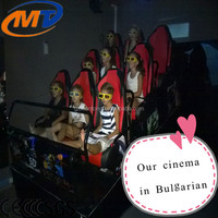 Fashionable 5d 6d cinema theater chairs/Children game 3d movies 5d motion amusement park rides