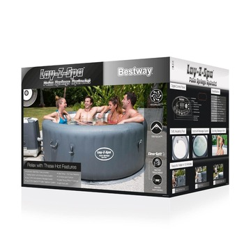 Bestway 54144 Cheap High Quality 6 Persons Outdoor inflatable Spa Hot Tub