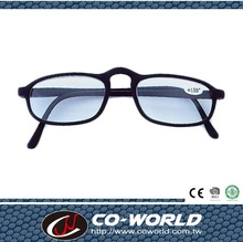 Glasses, oval frame, thin legs, made in Taiwan