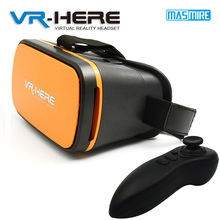 2016 new model virtual glasses with remote controller for smart phone VR HERE