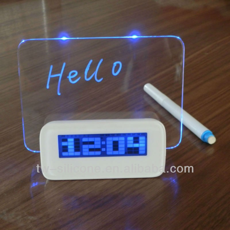 2015 classic table clock message board clock