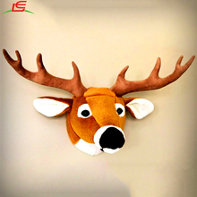 NEW home decoration stuffed deer head animal wall plush toys