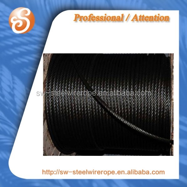 swaged Ungalvanized bright 6x31ws steel core steel wire rope sling