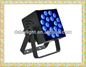 RGBAWV 6-IN-1 LED Indoor Flat PAR Event Light High Power 12w*18pcs