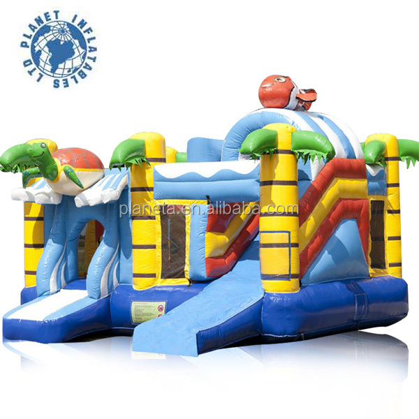 Cartoon Inflatable Air Jumping Castle Combo For Kids