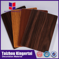 Alucoworld wall decorative SGS certificate 3mm 4mm wooden acp sheet