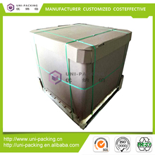 Hot sale 1000 liter bulk intermediate container paper ibc tank for liquid container