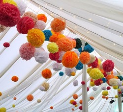 Factory Price...Wedding Paper Decorations Hanging Tissue Pom poms