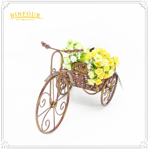 iron metal type triple flower plant holder garden balcony home decor