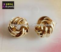 (AE-3877) Wholesale Gold tone infinity Knot Stud Earrings