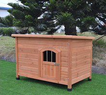 ZPDK1013B Heavy Duty Luxury Double Wooden Dog Kennel House Stainless Steel Runs On Sale