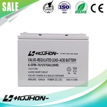 high quality free maintain lead acid deep cycle 12v75ah agm battery for car use
