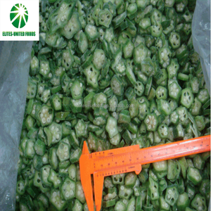 High quality best selling frozen IQF green whole diced cut okra
