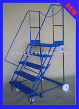 Steel Mobile Platform Ladder For Order Picker