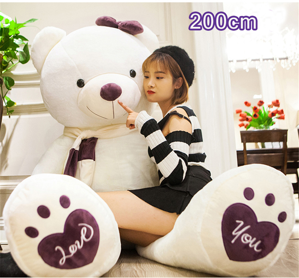 Fancytrader Huge Giant Love Teddy Bears Plush Toys Gifts for Girls Soft Big Stuffed Bears Doll Christmas New Year Valentine's Day Gifts 15