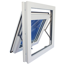 Aluminum top hung window with lock with high security