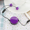 free sample promotion earphone retractable in-earphone with microphone for gift