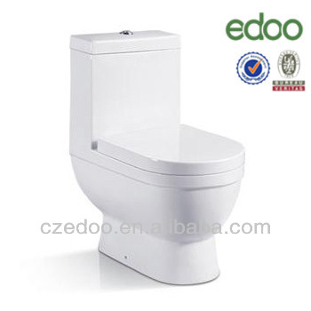 Hot sale Middle grade New-design S-trap low price Washdown one piece toilet /Refractory china hotel bathroom Toilet
