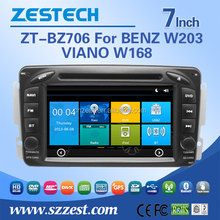 double din car radio for Mercedes Benz W168/W203/W210/W463/W163 dvd multimedia with BT SWC auto gps player