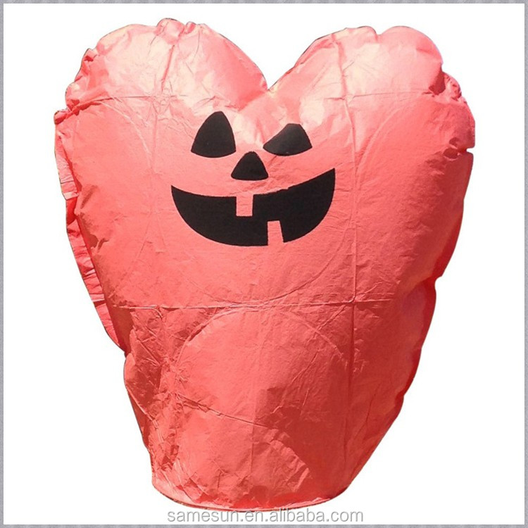 Halloween Pumpkin Paper Flying Sky Lanterns
